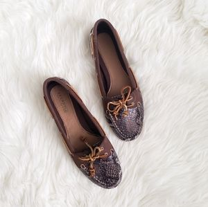 NIB Sperry Brown Python Shoes!